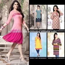 Bollywood Fashion Western Style Ladies Short Kurti / Top
