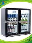 mini bar fridge transparent door