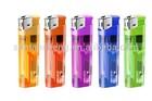 8.2CM Refillable Plastic Electronic Led Lighters/Transparent/Printing Logo Plastic lighters
