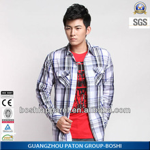 2014 Latest Design Stylish And Elegant Plaid Shirt ,Long Sleeve,Custom Shirt