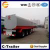 3 axle fuel oil tanker semi trailer liquid transportation