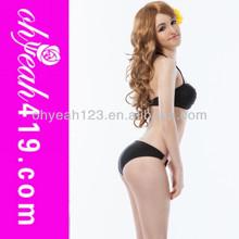 Hot sale sexy young girls plain black bikini