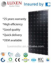 180w mono pv solar panel solar module