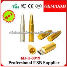Promotional Bullet Shape Pen Drive ,Custom Logo Metal Silver Usb Flash Drive Bullet