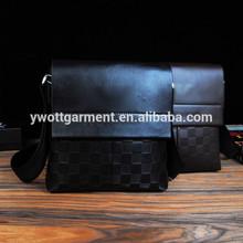 High quality PU leather shoulder bag men