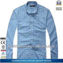Latest Men Plaid Long Sleeve Slim Fit Casual Shirt Can Be Custom