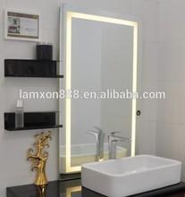 Venetian mirror with modern LED lighting for bathroom