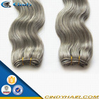 grade 7a raw unprocessed 100% remy natural wave gray hair weave silver 100 brazilian human hair extensions