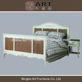 Cama de madera de estilo antiguo europeo de muebles de dormitorio
