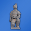 Clay color soldier figurine