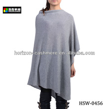 High Quality Knitted Pure Cashmere Poncho