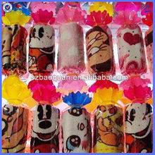 wedding gift cake towel/lollipop shape towel cake wedding souvenir