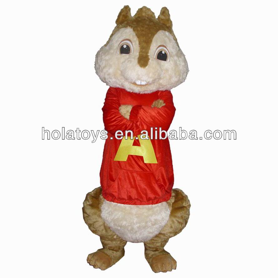 Alvin Chipmunks Costume Alvin Chipmunks Mascot
