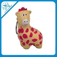 china creative giraffe shape pu keychain for premium gift