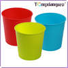 Plastic Household Simple Style Colorful Catoon Pattern Round Waste Container