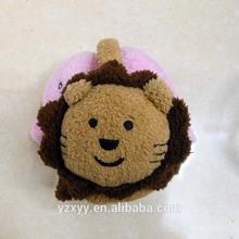 Customized earmuff cartoon lion,plush earmuff winter warmth for kids