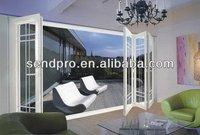 Double glazed veranda folding door,exterior folding patio doors prices