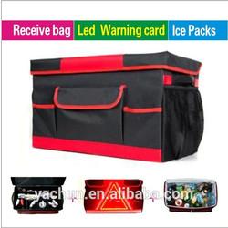 stylish waterproof foldable multi-use car trunk organizer box with cooler