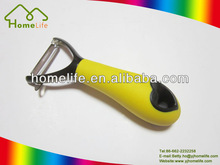 2014 new unique design latest stainless steel cooking Kitchen ware utensils gadgets accessories soft grip high quality peeler