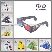Low Price!!! 1000PCS Customized Logo 3D Paper Glasses/3D Video Glasses/3D Glasses