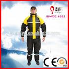 the fishing gear adult nylon raincoat man yellow printed pvc rain gear suit