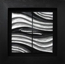 Direct factory shadow box 3D home decoration metal wall art for home