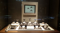 New stylish high end jewelry displays with LCD screen on back board
