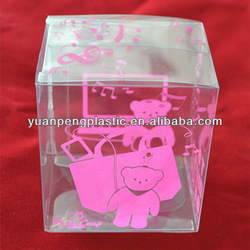 Clear Transparent Colorful Plastic Folded Box for Gift or Cosmetic with Silk Screen Printing