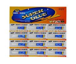 SECBOND brand 3g super glue cyanoacrylate adhesive in tubes
