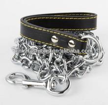 "4' 4mm Heavy Chain Dog Lead with Nylon Handle / 48"" long"