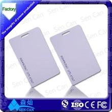 Free Sample 125KHZ RFID Blank Card/ PVC Card with CE/ROHS