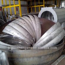Brilhantemente elipsoidal head usado para selar o tanque de armazenamento de polimento grande