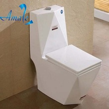Unique ceramic siphonic One Piece Flush Toilet home decoration bathroom one piece stainless steel toilet
