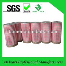 red printed bopp jumbo roll tape