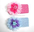 Fancy design with lace elastic flower headband,baby headband