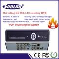 4ch a basso costo dvr h 264, dvr manuale hd, p2p cctv dvr con hdmi e p2p tecnologia cloud