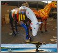de dibujos animados de fibra de vidrio escultura caballo