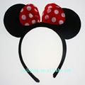 black minnie mouse orelha do luxuoso brinquedos para cosply tema