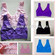 ladies seamless vest underwear closeout F3401B ladies vest underwear overstocks