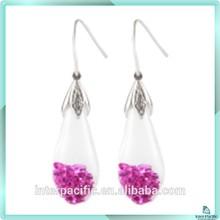 New style Tear Shaped Opal chip Ruby earring opal