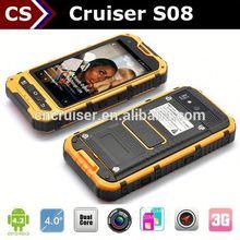 Cheap Rugged NFC Phone Cruiser S08 Android 4.2 Dual Core GPS GSM 3G waterproof watch phone dual sim