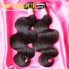 Top grade lowest price unprocessed body wave virgin brazilian hair extension