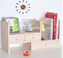 soild wood kids room small bookshelf with drawer