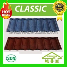 Aluzinc corrugated sand coated roofing/Stone coated roofing tiles