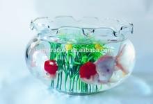 glass fish bowl,glass bowlset,glass bowl flower shape