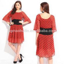 Ladies New Style Half Sleeve chiffon dress polka dots