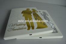 4.3'' customized LCD wedding card design/wedding invitation card/video invitation card model