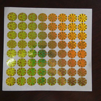 Self Adhesive Hologram Stickers / Labels Master Card