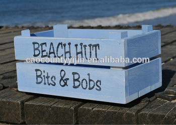 Personalised blue Apple Crate / Planter / Storage / Gift Idea /Wedding