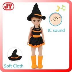 Wholesale fashion doll halloween costume18 inch unique design vinyl doll and EN71